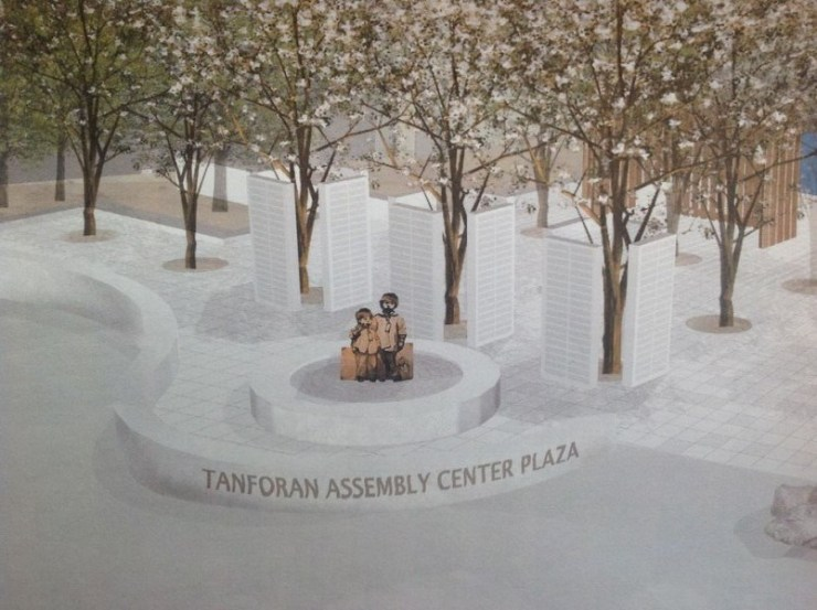 Rendering for the Tanforan Assembly Center memorial