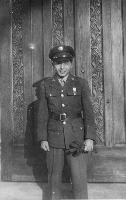 Kaz at Fort Snelling, 1945