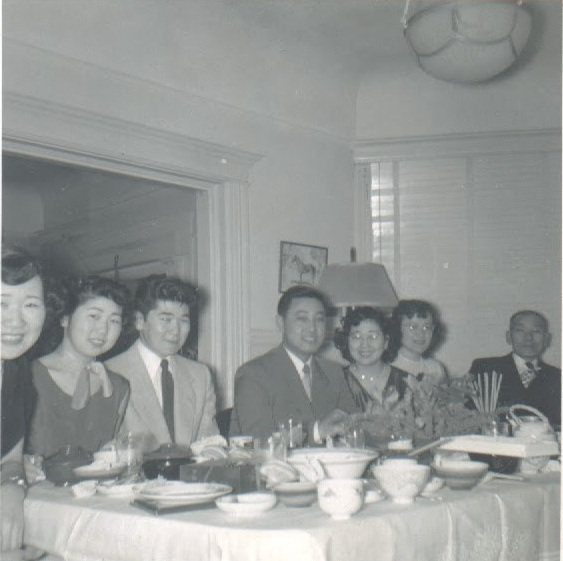 From left to right: Oka siblings Yuri, Eva, Amos, Yutaka, Mary, and two family friends