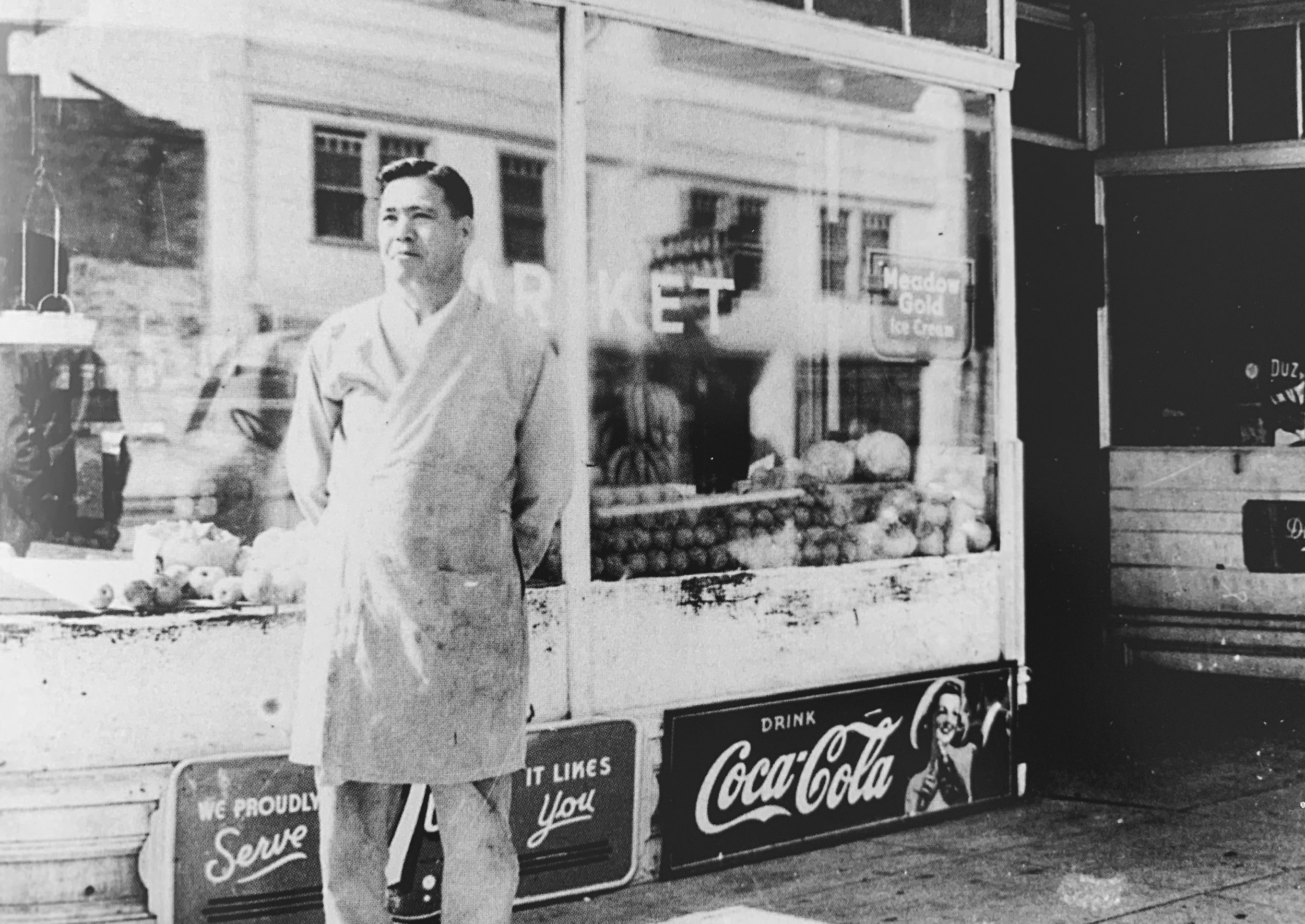 Yoshijiro and his wife, Misaye were the first owners of Santo Market (then Santo Grocery), at 248 Jackson Street. Photo courtesy of Japanese American Museum of San Jose