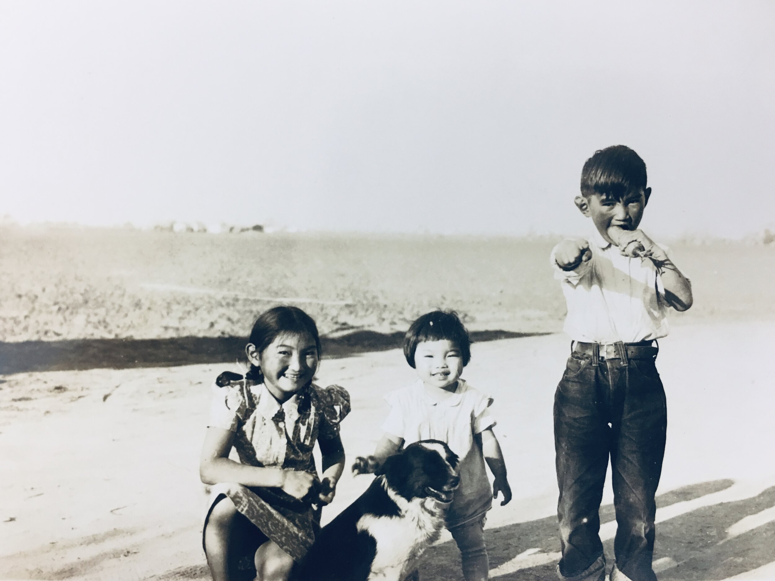 Rose, Hisako, and Roy, likely taken in 1941 in Salinas right before the family left for Japan.