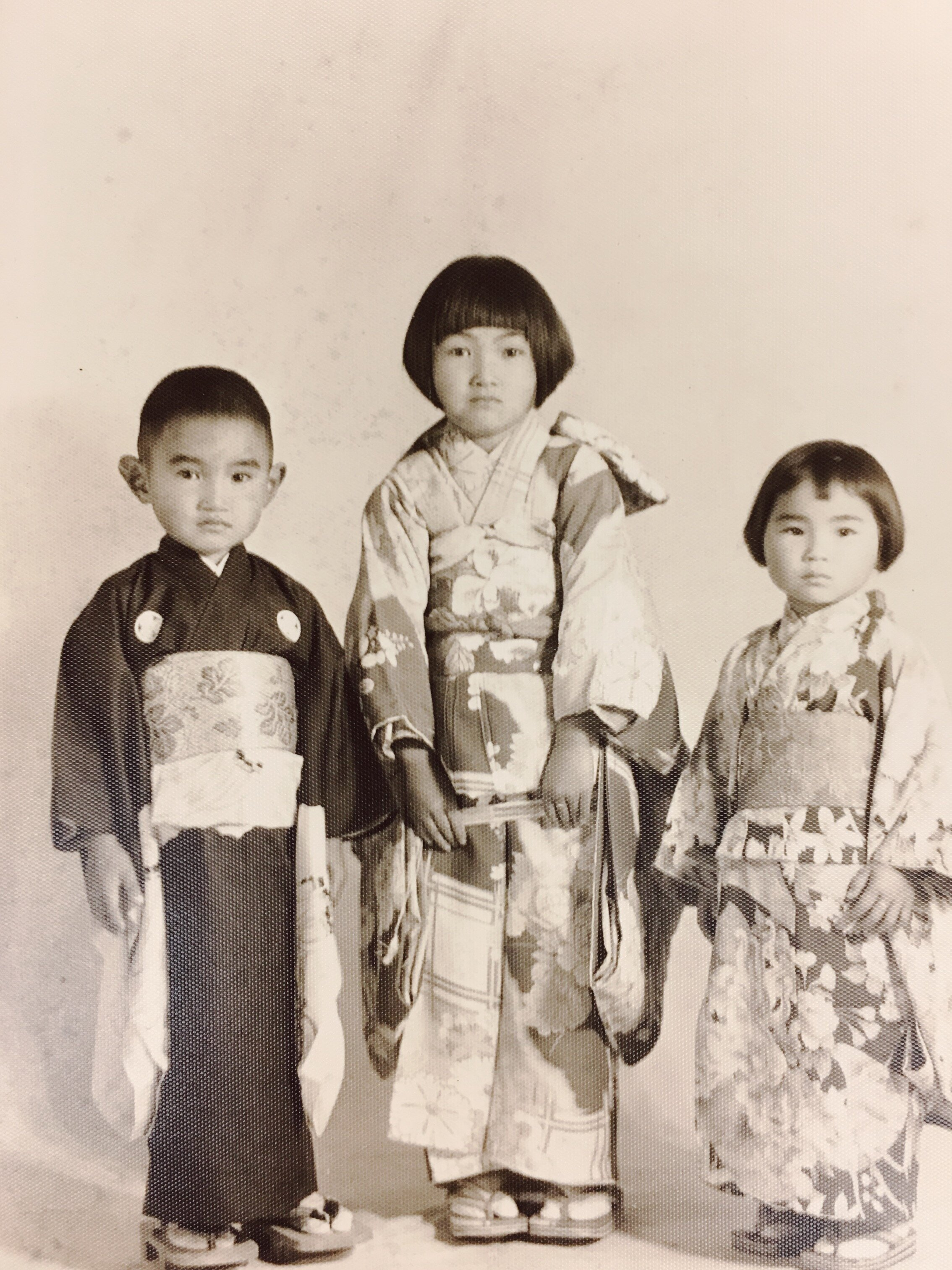 Roy, Rose, and Haruko (before she passed away in 1937), dressed for an event at the Salinas Buddhist Church.