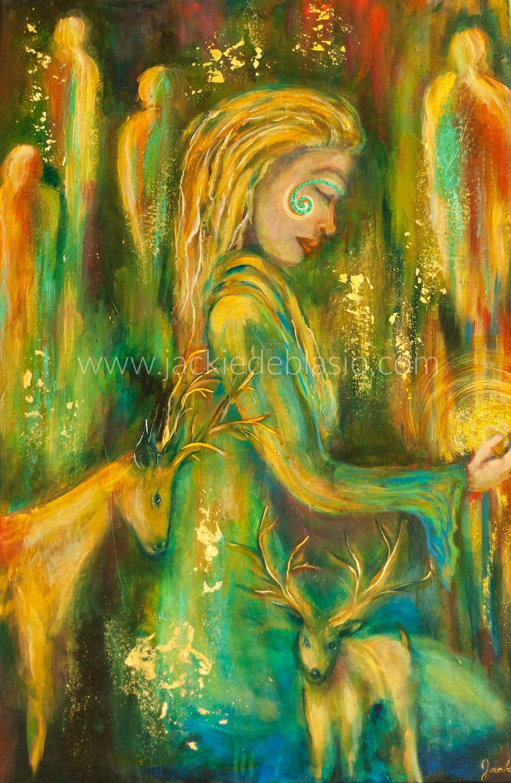 "Priestess of Magic 24"" x 36"""