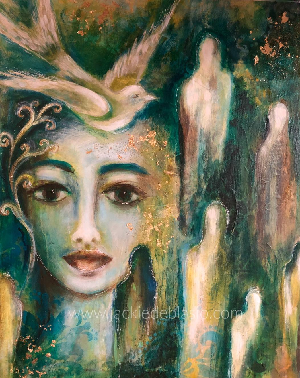"Priestess of Healing 16"" x 20"""