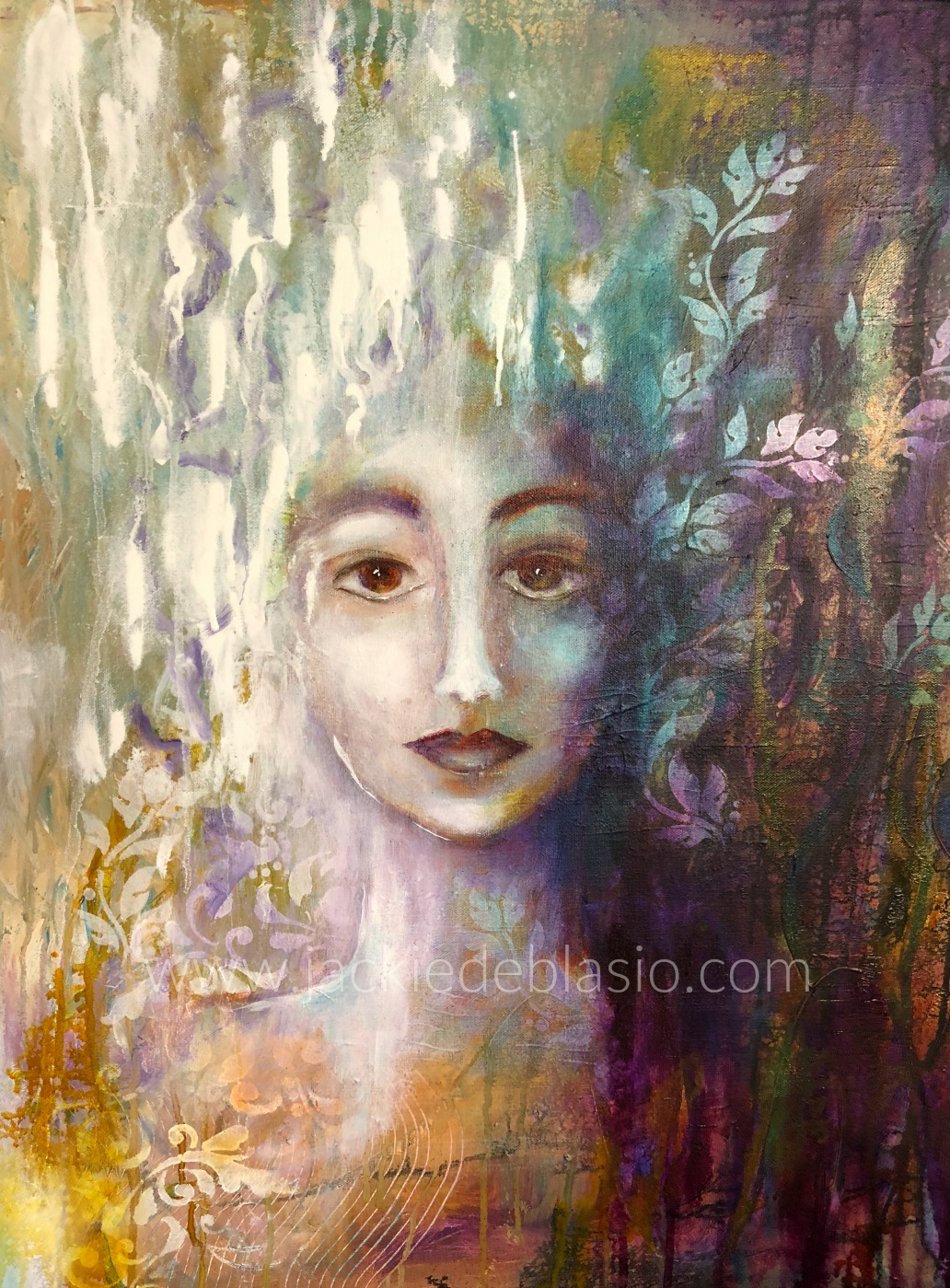 """Priestess of the Ethereal Realm 24"""" x 30"""""""
