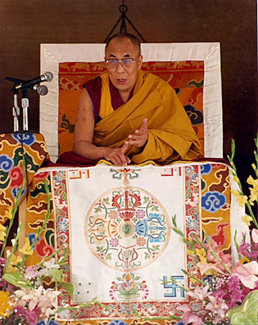 His Holiness the Dalai Lama at Nechung Dorje Drayang Ling, Hawaii April 1994