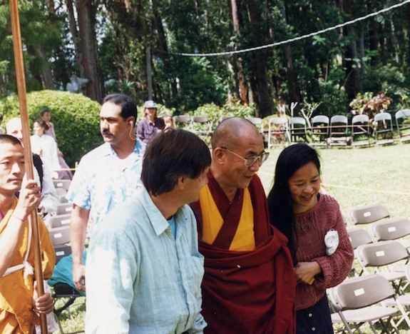 His Holiness the Dalai Lama with NDDL founders & managers, Michael & Marya Schwabe