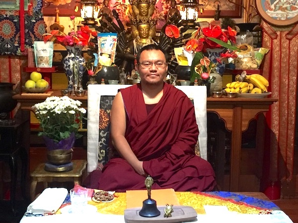 Nechung Rinpoche on a visit to Wood Valley in September 2018.