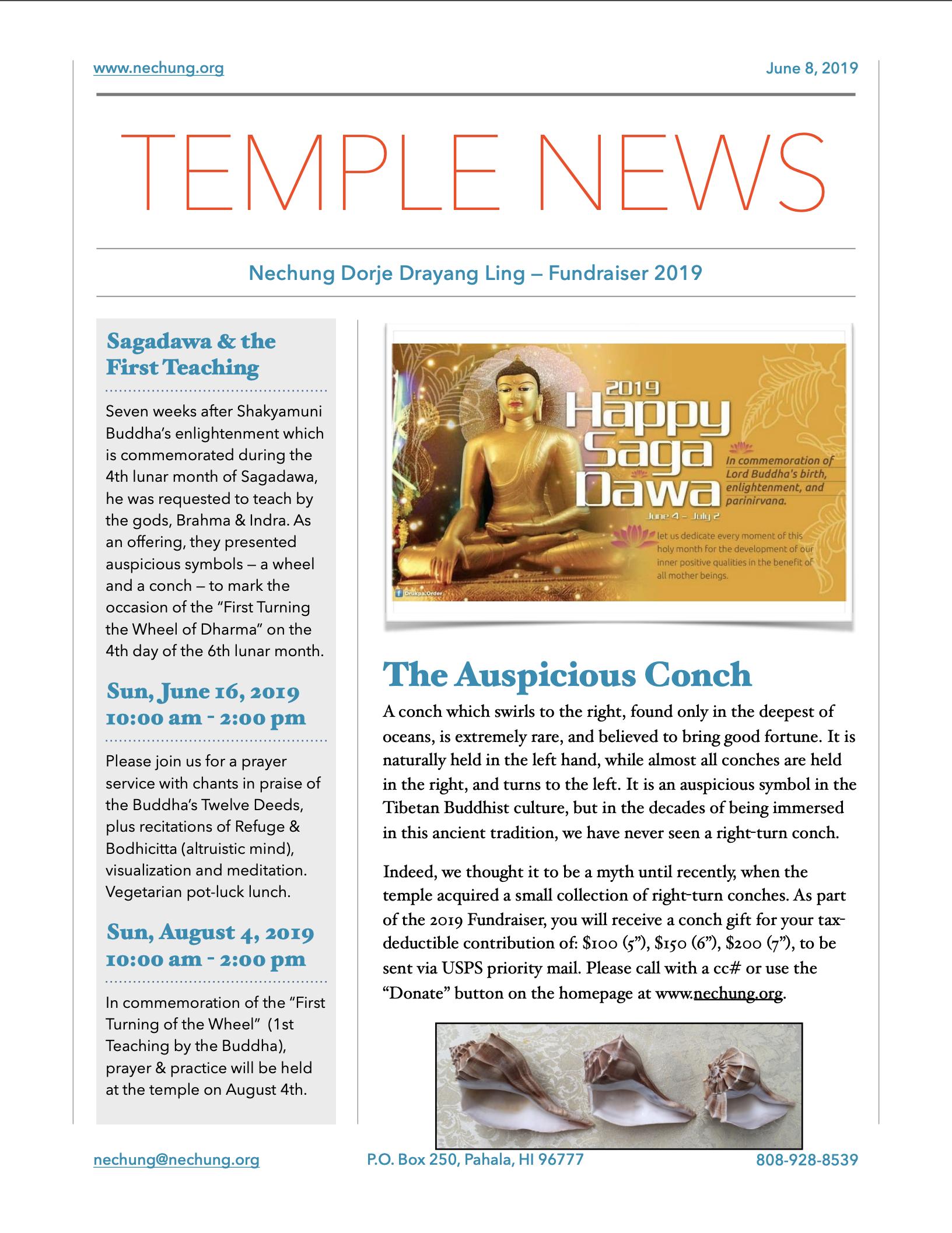 Nechung Temple Hawaii News 2019