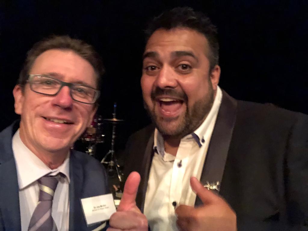 With the Wagga Wagga Australia Day Ambassador for 2019 Dane Simpson.