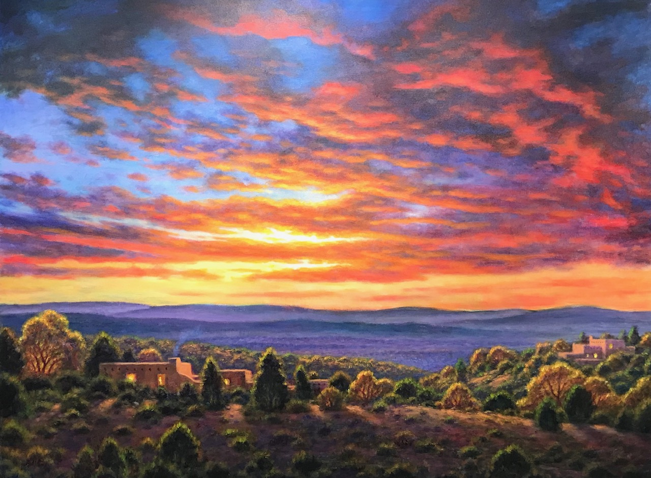 Fall Sky, 40x54 inches, acrylic