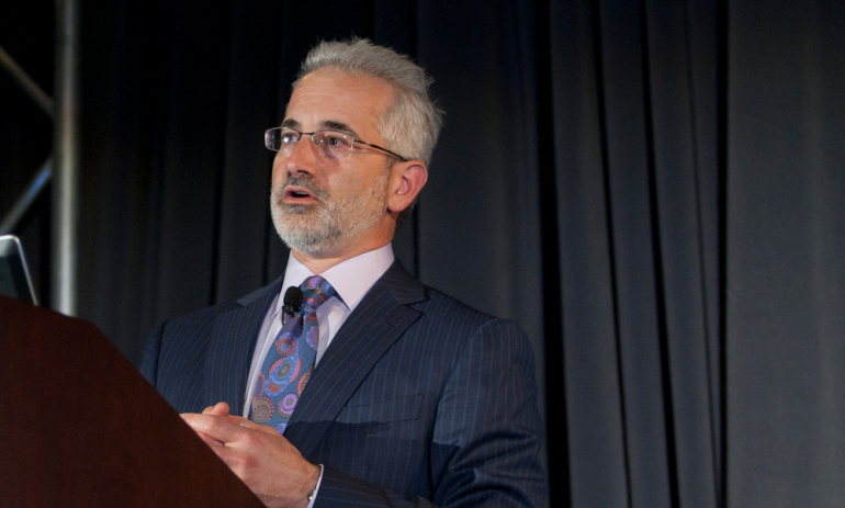 Michael Blum, director of the Center for Digital Health Innovation, speaks at a recent conference.