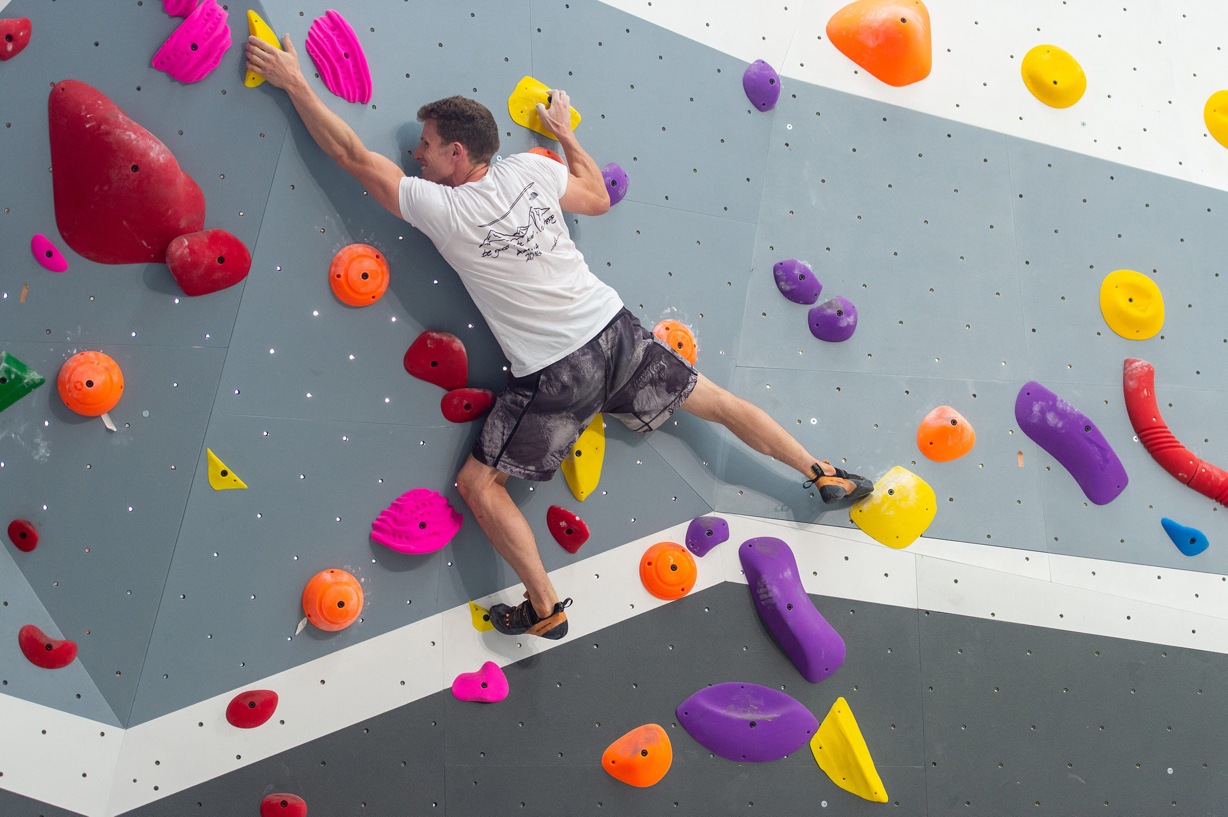 bouldering wall in kirrawee