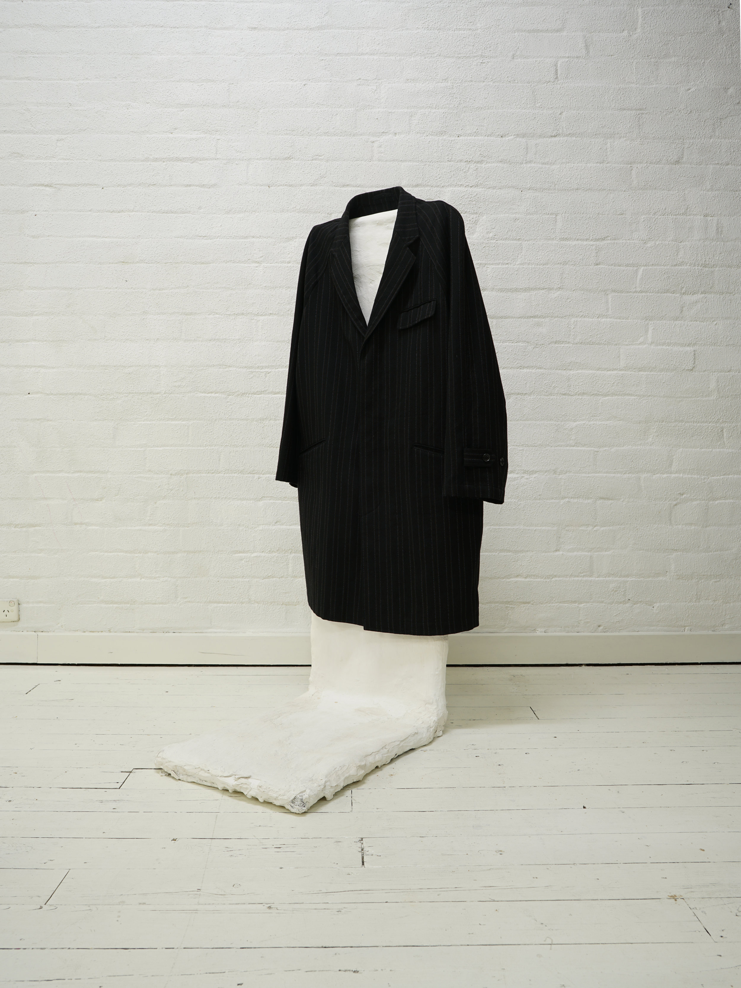 comme des garçons homme plus 1998 unlined covered placket coat  from the filter store collection
