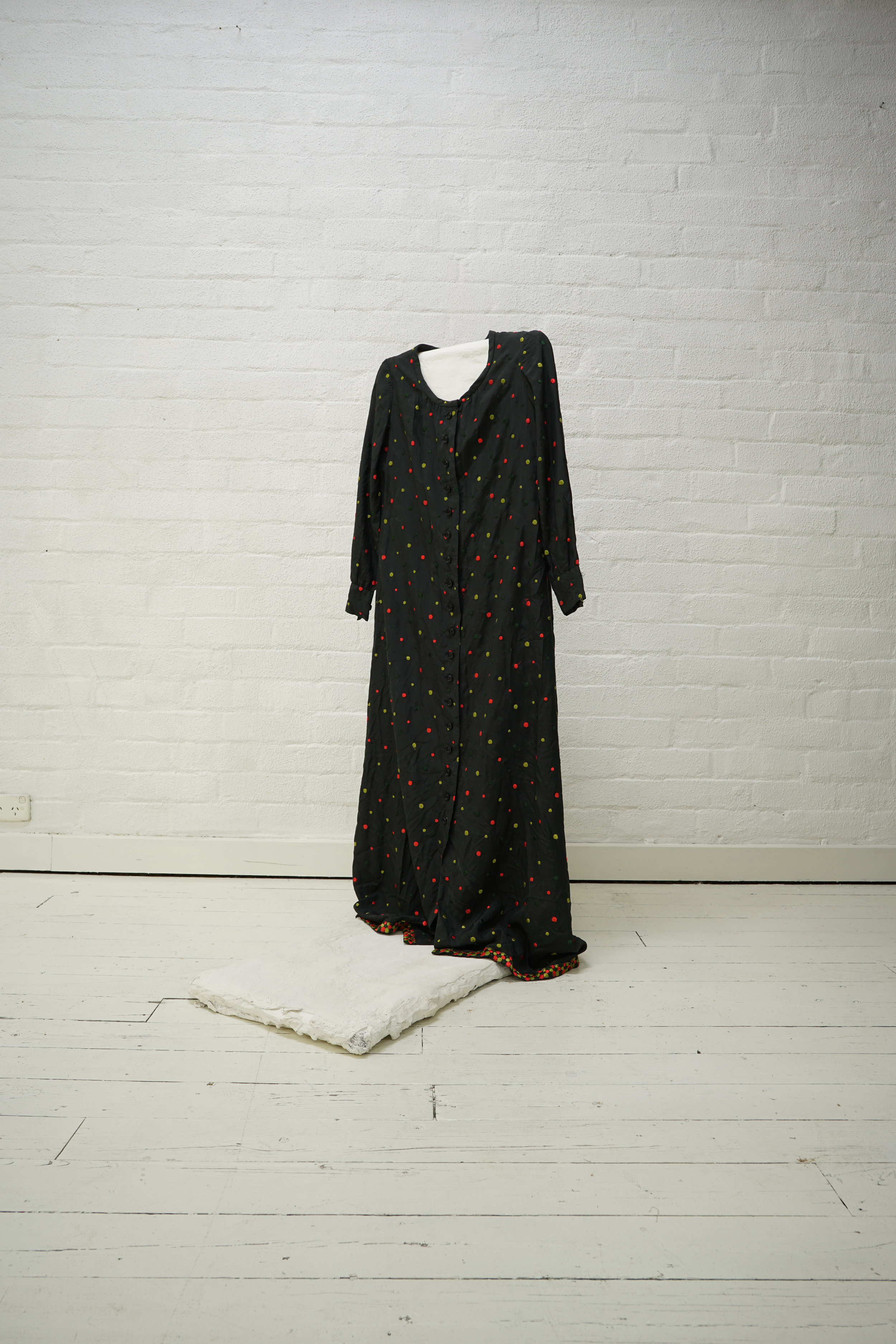 givenchy silk embroiled polka dot dress from a flat finds
