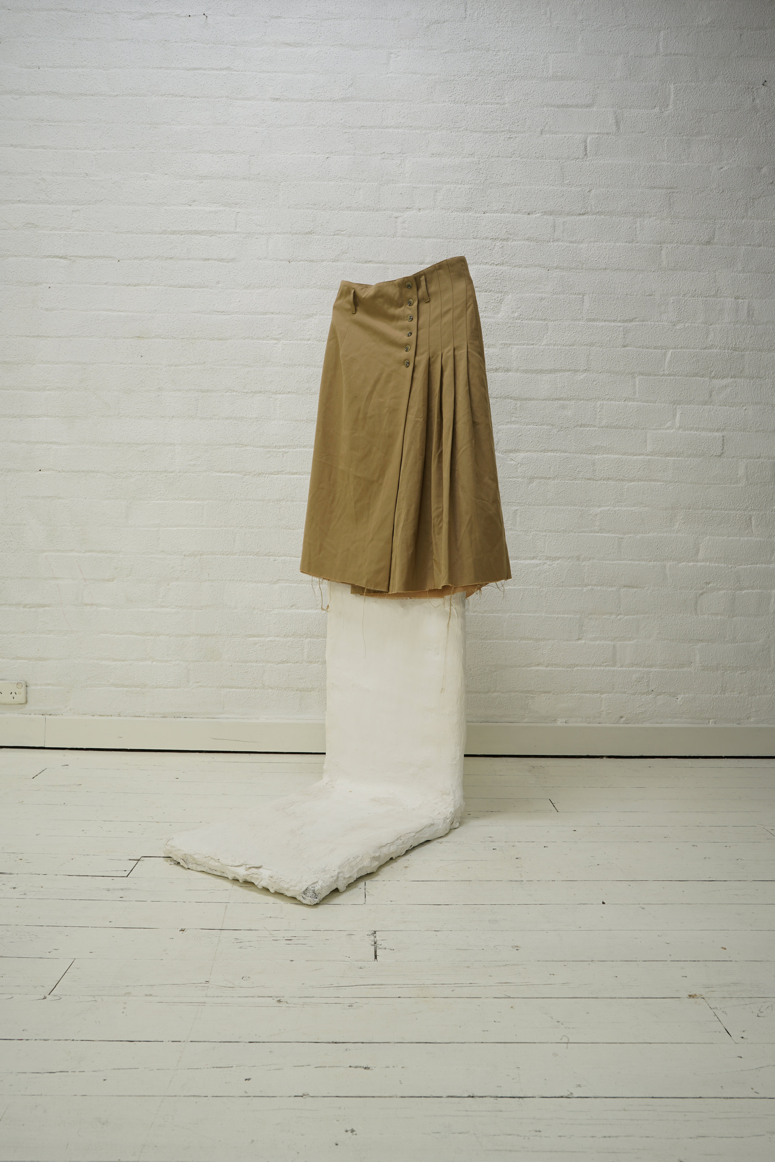 raw edge lined pleated skirt from a flat finds