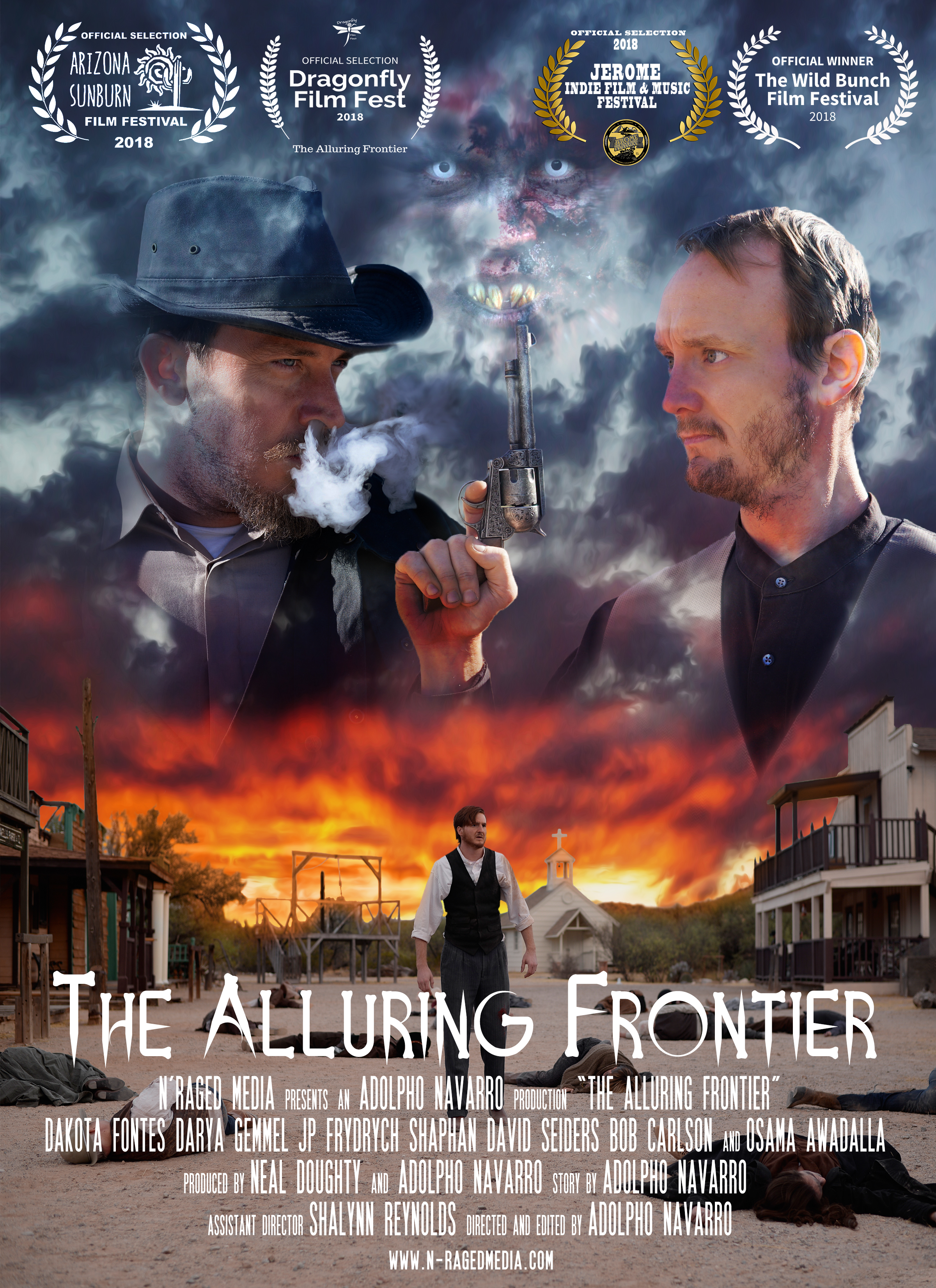 Best Horror/Thriller Short FilmBest Supporting Actress - The Alluring FrontierWildbunch Film Festival 2018Official SelectionJerome Film Festival 2018Arizona Sunburn Film Festival 2018Dragonfly Film Festival 2018