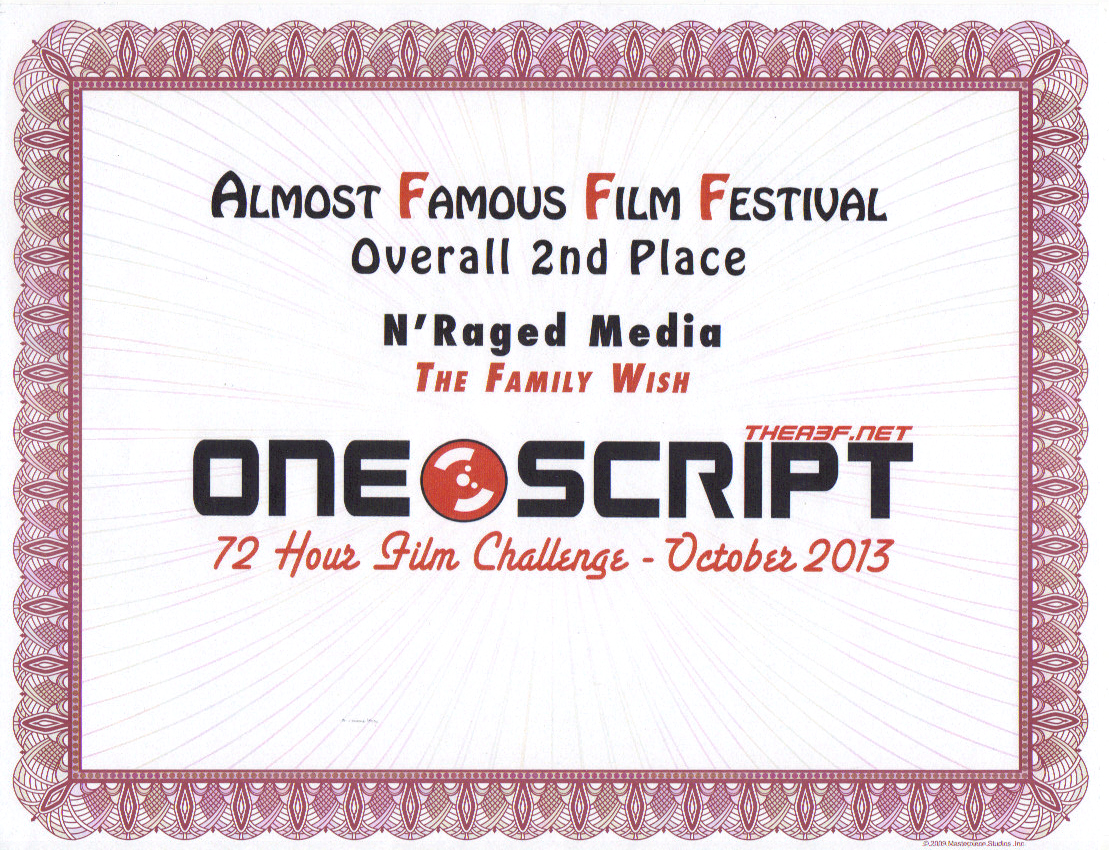 2nd Place Film - Almost Famous Film Festival - Best Style