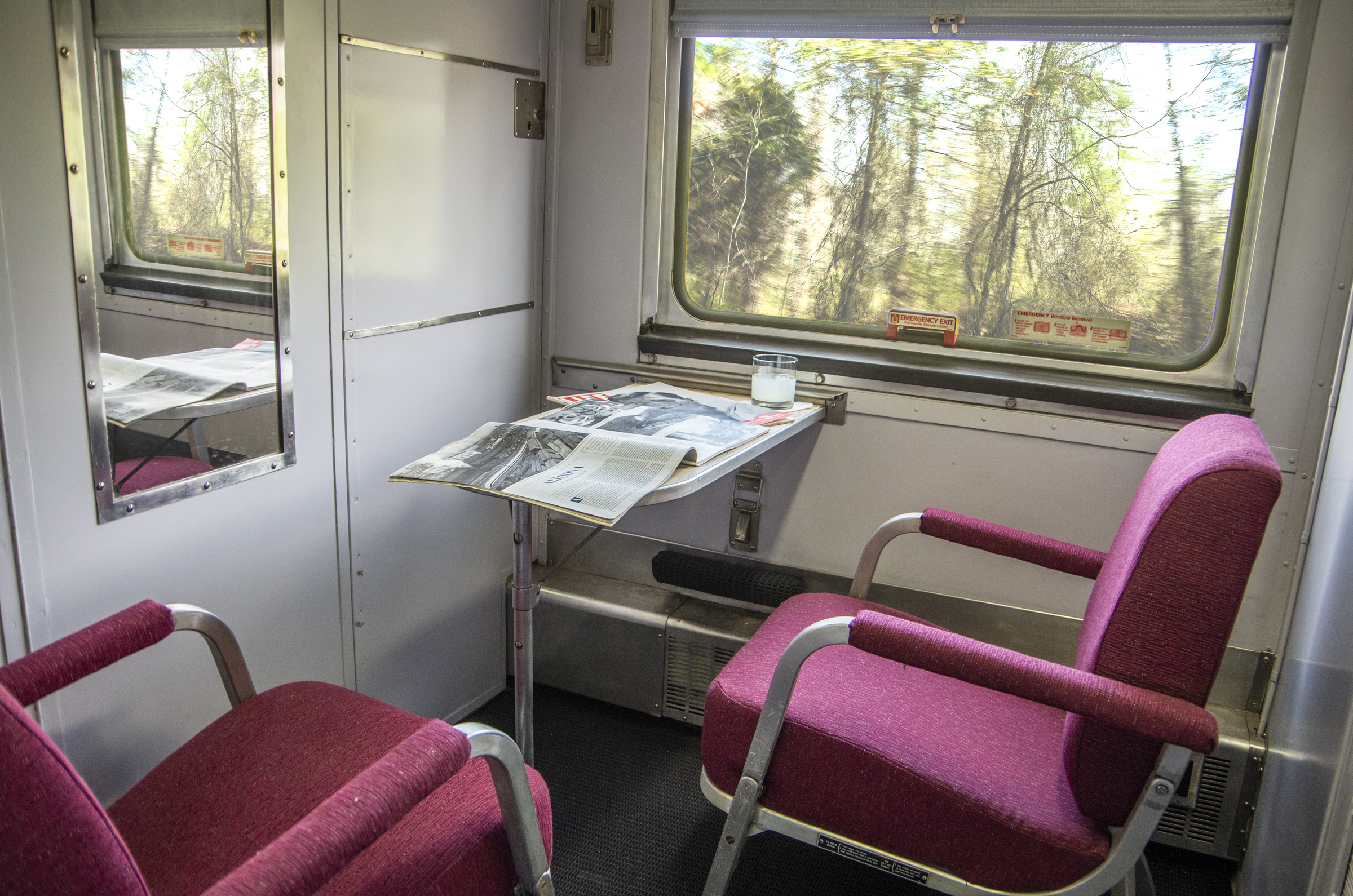 Railcar Features - Our historic railcars are perfectly outfitted for your next business or a personal trip.