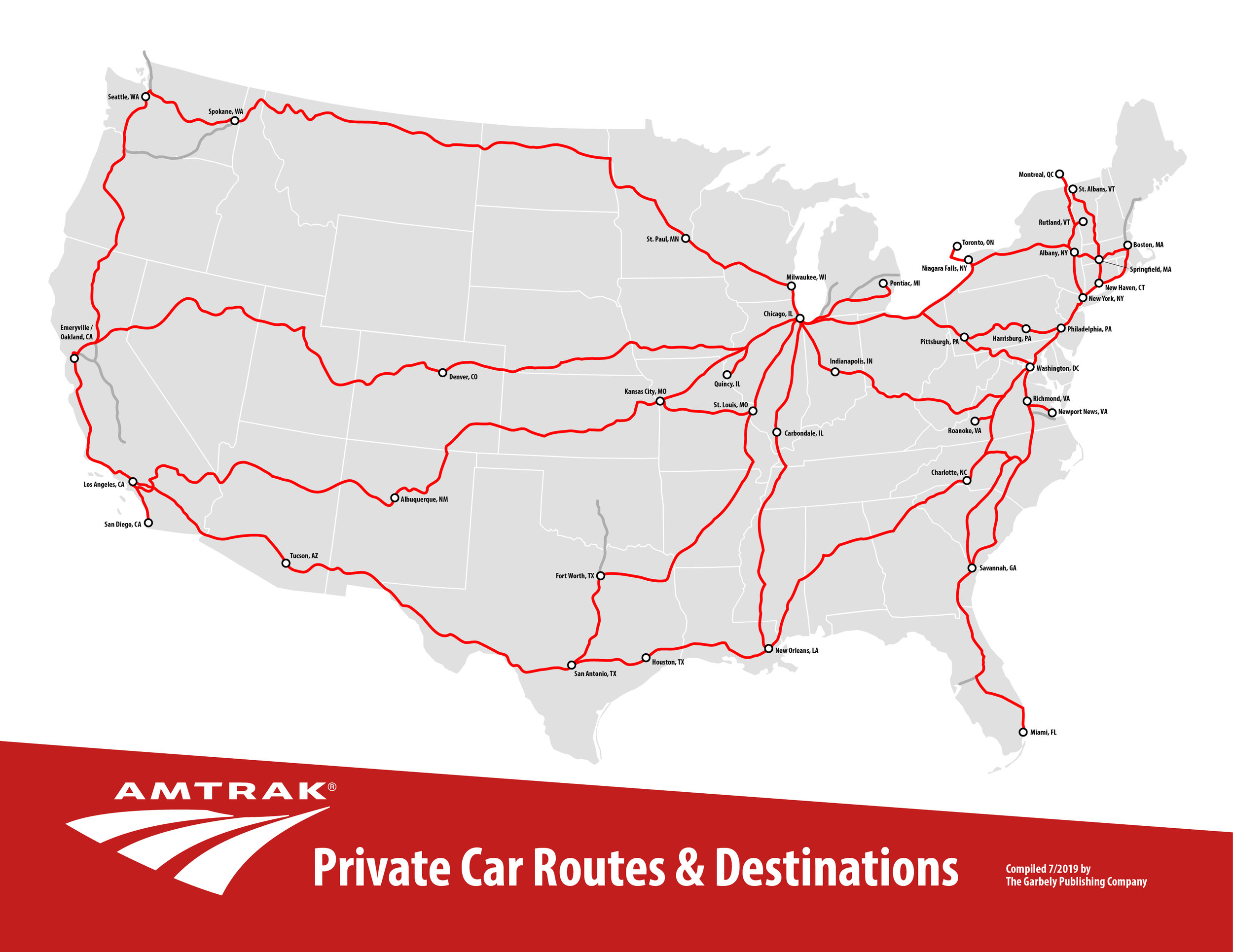 Amtrak's National Network -