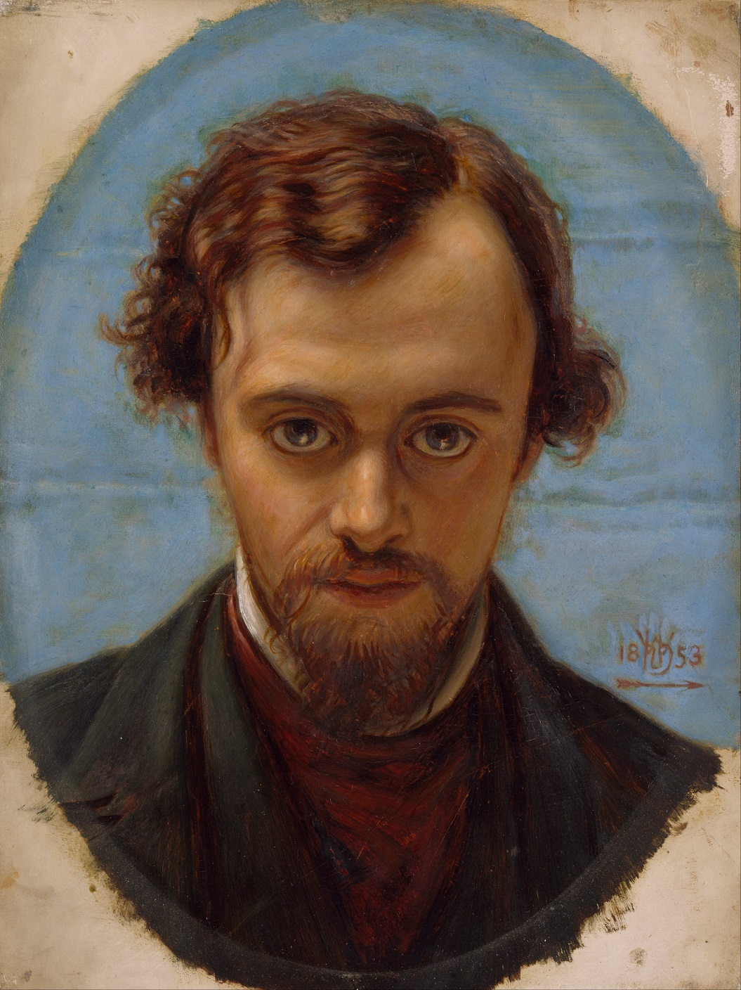 A portrait of Rossetti at age 22, by his friend William Holman Hunt
