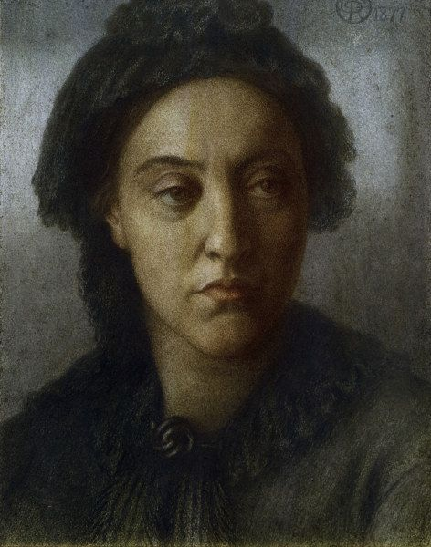 One of Dante's many portraits of his sister Christina - 1877