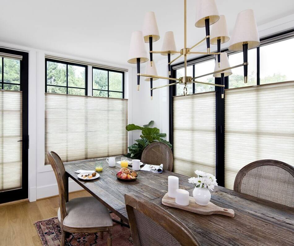 Light Filtering Cell Shades    Light filtering Top Down Bottom Up honeycomb window shades provide light and privacy control while insulating your home from the heat or cold. These are also a great solution for bay windows, foyers and sidelights.