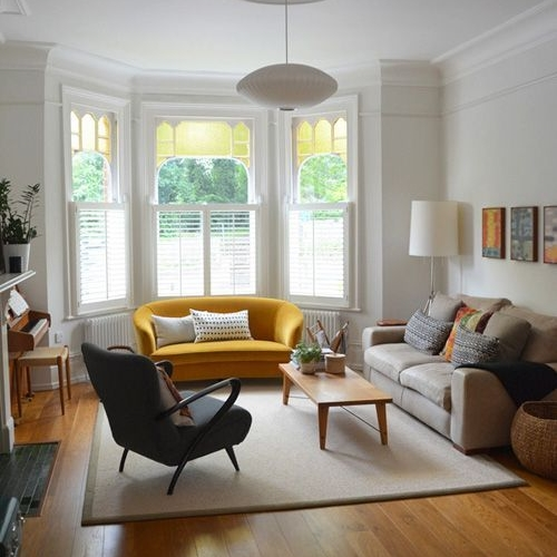 Cafe Shutters — Bay Window    Shutters in a bay window or picture window provide natural, adjustable light and privacy control.