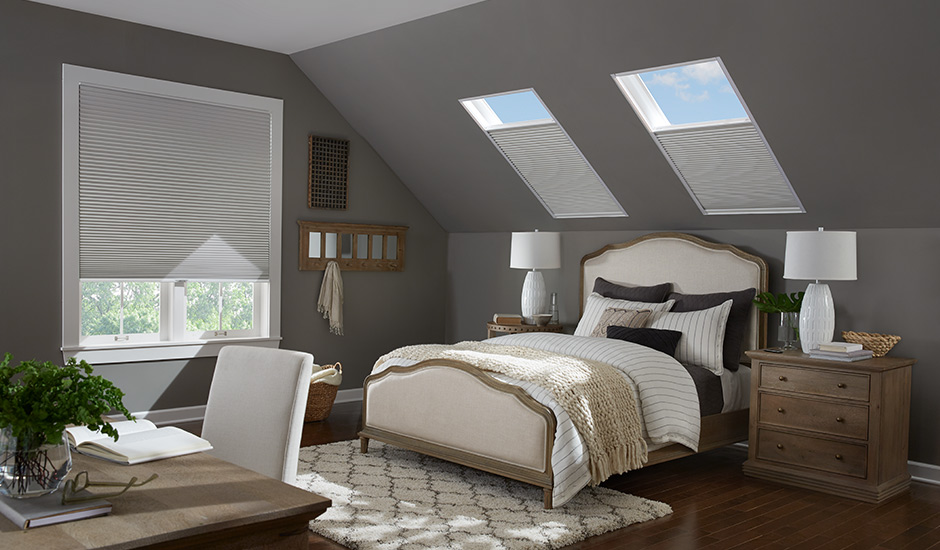 Skylight Cellular Shades    Budget Blinds of Olympia and Tumwater makes it easy, affordable, and beautiful to enhance energy savings with an outstanding collection of energy-efficient window treatments.