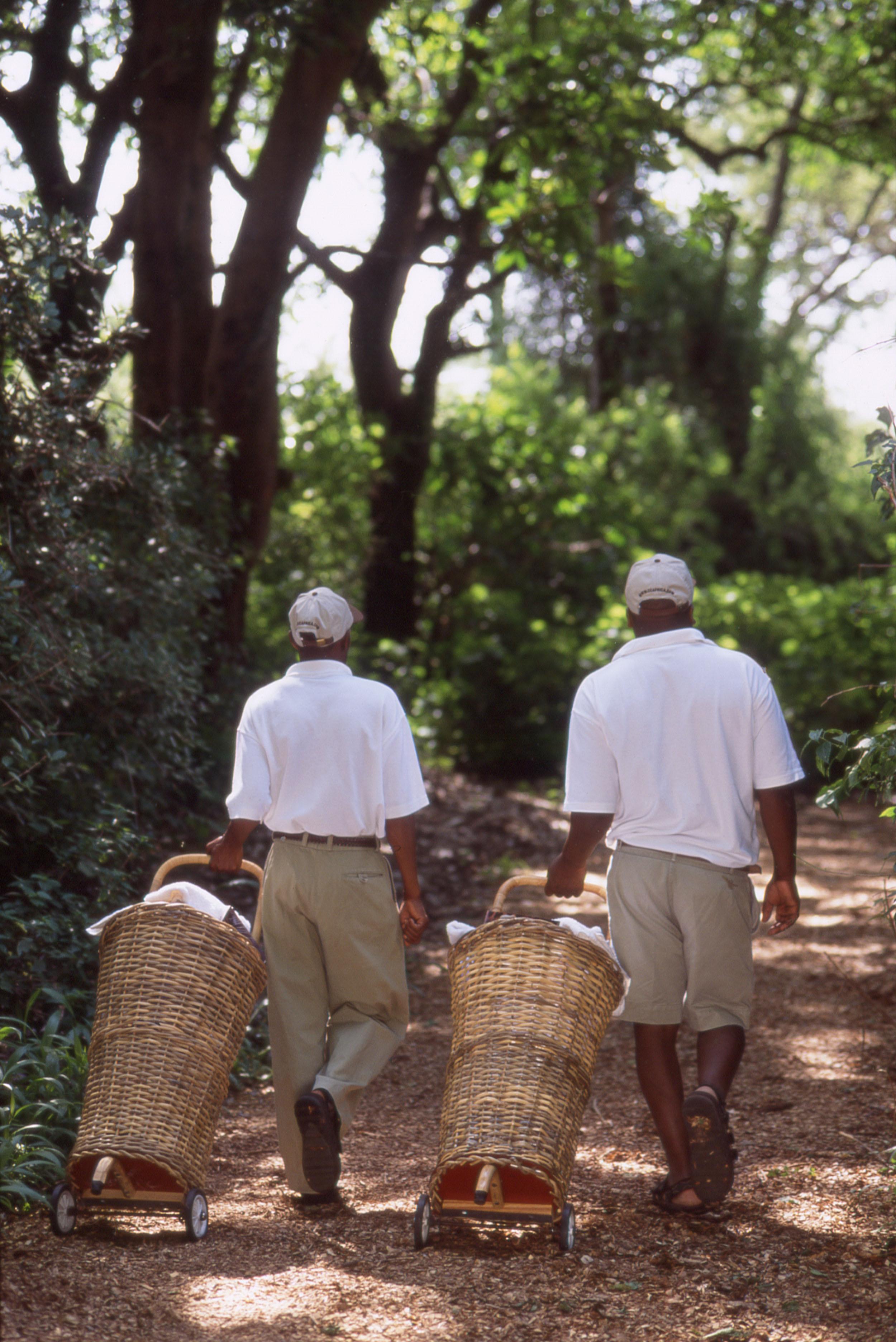 Dook - Lake manyara - Housekeepers with trolleys.jpg