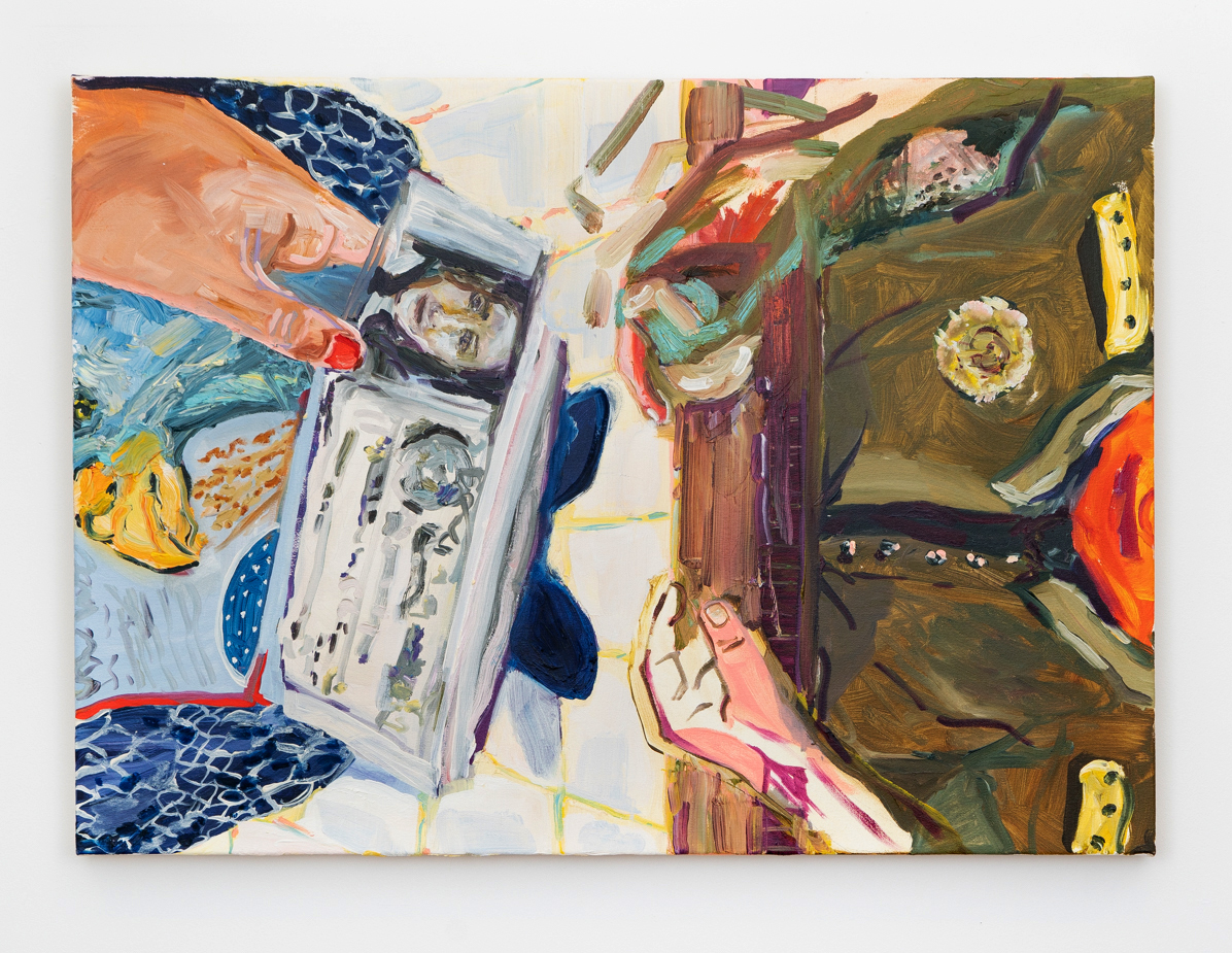 Passport Control, oil on canvas, 2018, 29 x 37 ''