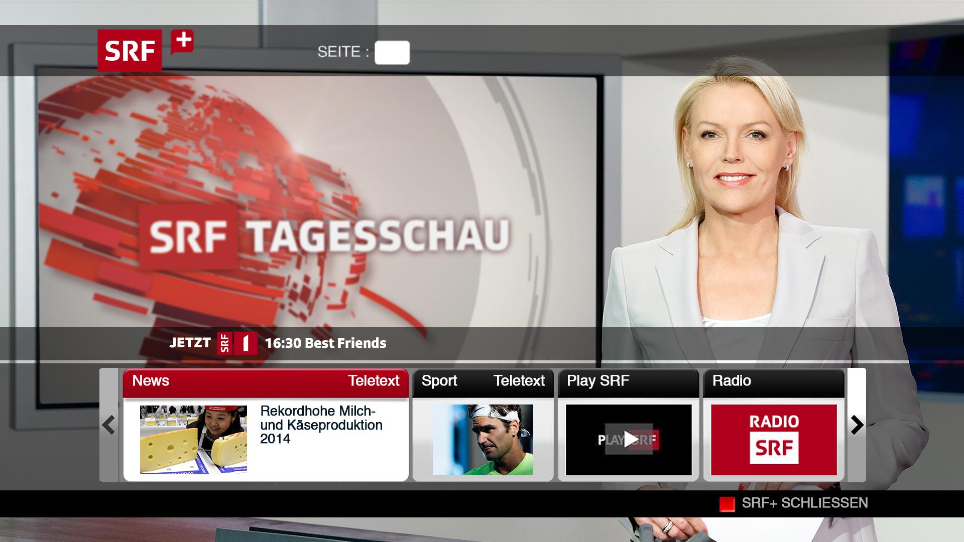 Was ist HBBTV - HbbTV steht für «Hybrid broadcast broadband TV». Dies bedeutet, dass Fernsehen und Internet miteinander verschmelzen. Das HbbTV Angebot der TV Sendeanstalten bietet weit mehr als einen grafisch erweiterten Teletext. Via «Play» roter Knopf auf Ihrer Fernbedienung- können Sie auf bereits ausgestrahlte Sendungen zurückgreifen. Künftig werden Sie auch die Möglichkeit haben, per Televoting Ihre Meinung kund zu tun und sich aktiv am Geschehen zu beteiligen.