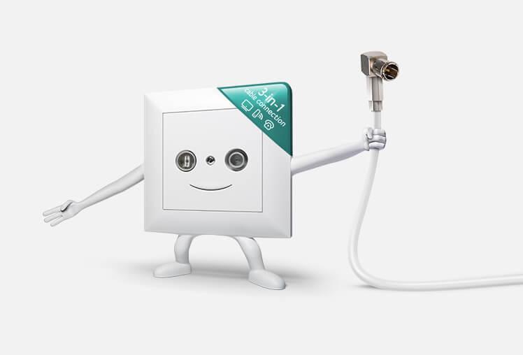 Koaxial- Kabelfernsehen - Kein Wunder, empfangen die meisten Schweizer Haushalte die Radio- und Fernsehprogramme über Kabel. Die Installation ist einfach, das Angebot an Sendern und Zusatzangeboten ist gross und Sie kommen erst noch in den Genuss lokaler TV-Programme.