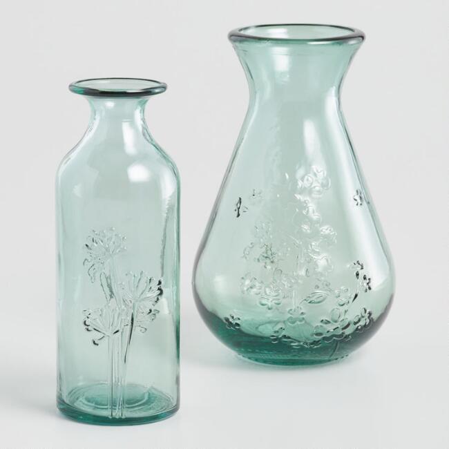 Green Floral Vase