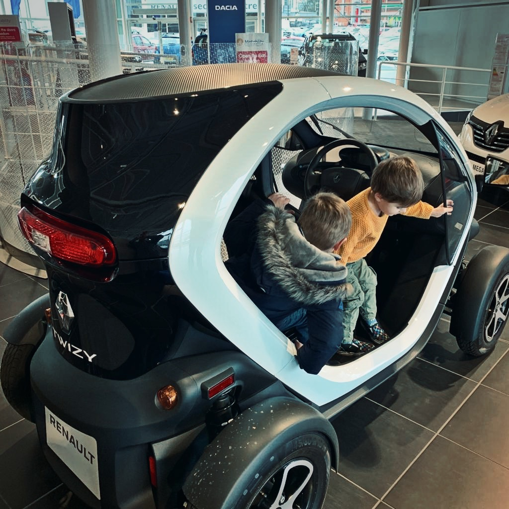 The electric Renault Twizzy was my children's top choice.