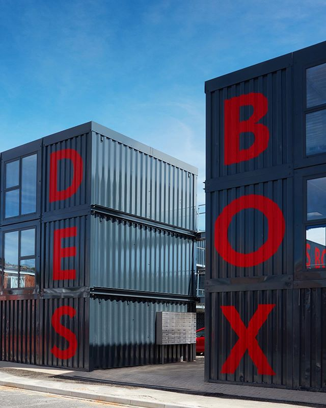 DesBox scheme has now been completed- composed of 52 units arranged on 3 floors, the project is one of several new developments aiming to regenerate the area #ContainerCity
