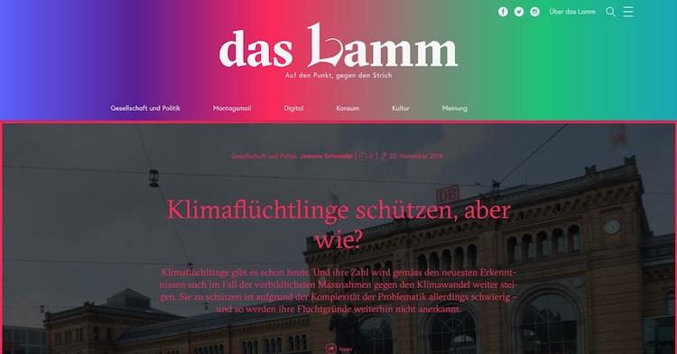 Abb. 2: Screenshot von der  Lamm- Startseite.