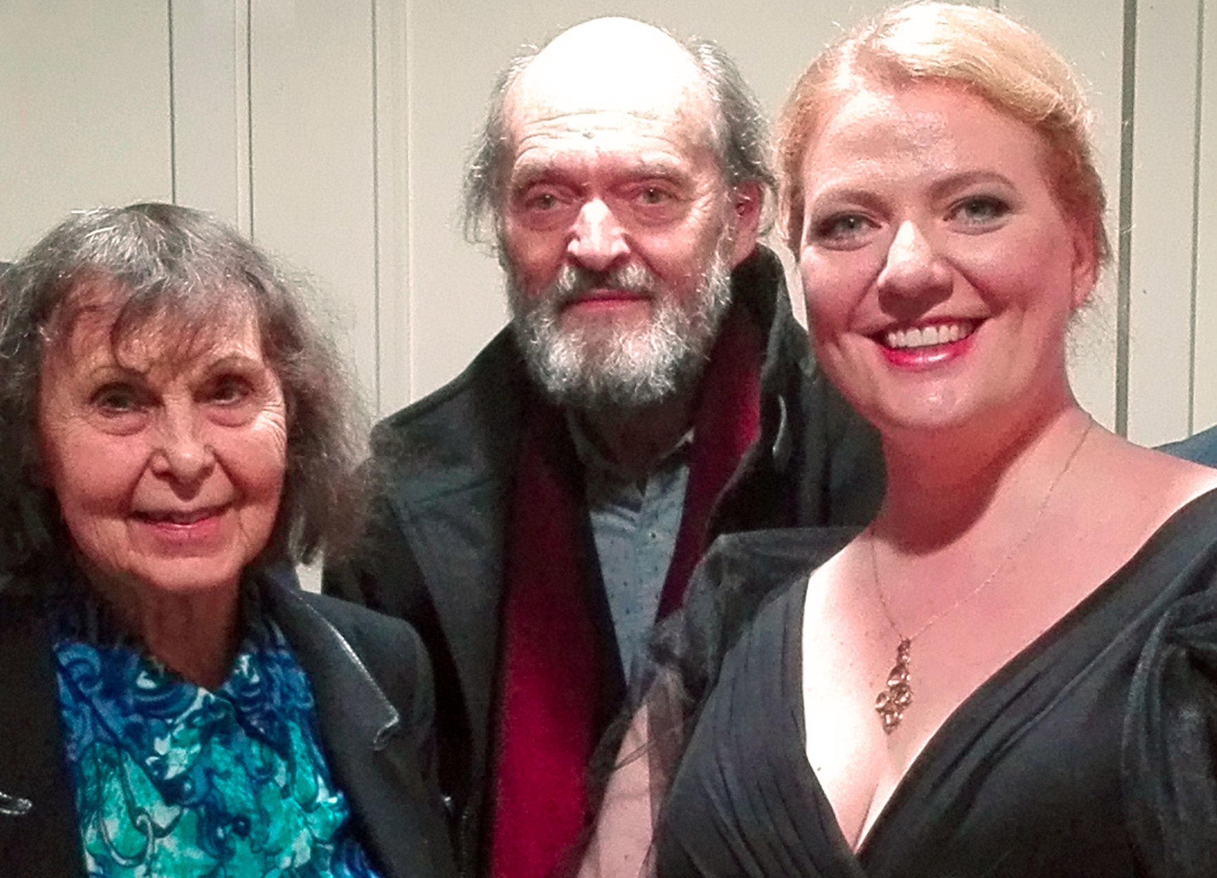 Sofia Gubaidulina, Arvo Pärt and Aile Asszony (Tallinn, October 2016)