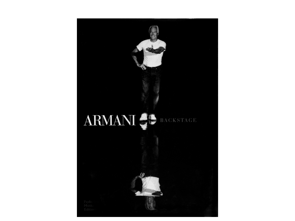 """Armani Backstage - Federico Motta 2002ISBN 88-7179-343-9""""This great and oft-honored photojournalist, so unconnected to the flashy world of fashion,came into Armani's backstage universe with his intelligence and discretion, to document a special event, an extraordinary moment: the first fashion show in the new theatre designed by Tadao Ando, the Japanese master of an architecture of geometric purity.""""Quotations from the introduction to Armani Backstage published by Motta and reproduced in magazines across the world.A selection of images is available for licensing at Trunk Archive : www.trunkarchive.comPlease contact : licensing@trunkarchive.com"""