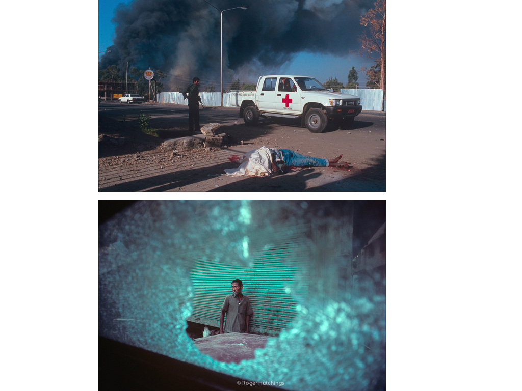 Roger Hutchings Zeitline # Explosion, Addis Ababa, 1991 and Hindu/Moslem Riot, Delhi, 1991