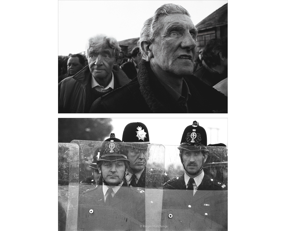 Zeitline # Defeated Coal Miners, Mardy,South Wales, 1985 and Miner's Strike,Shirebrook, 1985