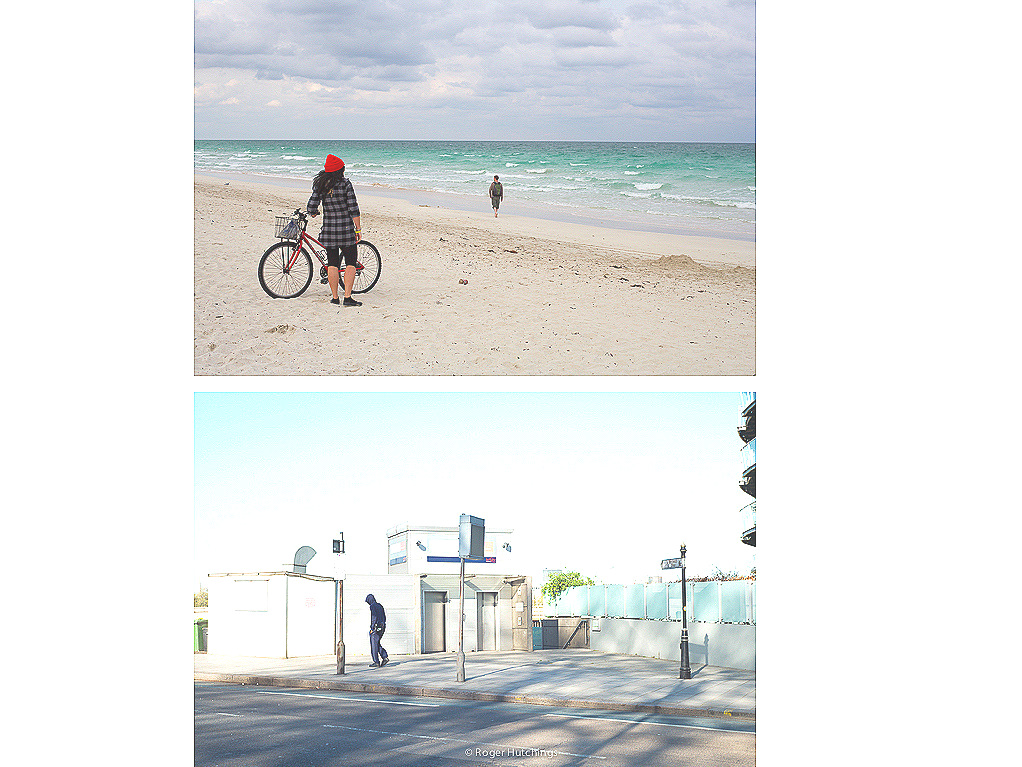 Zeitline # South Beach, 2010 and Chelsea Bridge, 2014