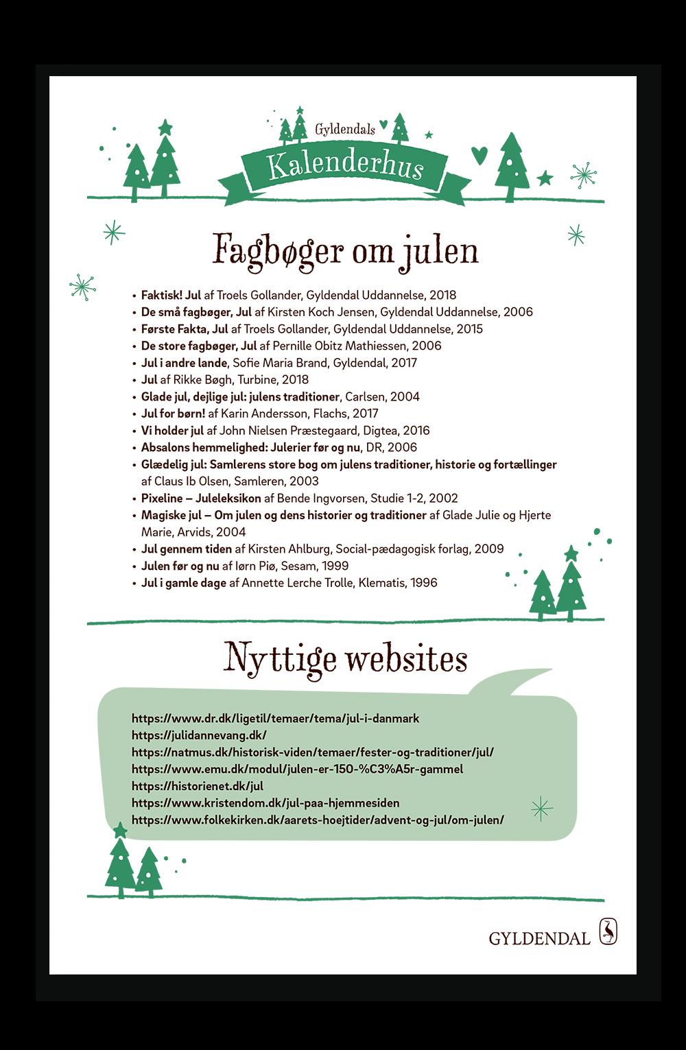 Fagbøger om julen