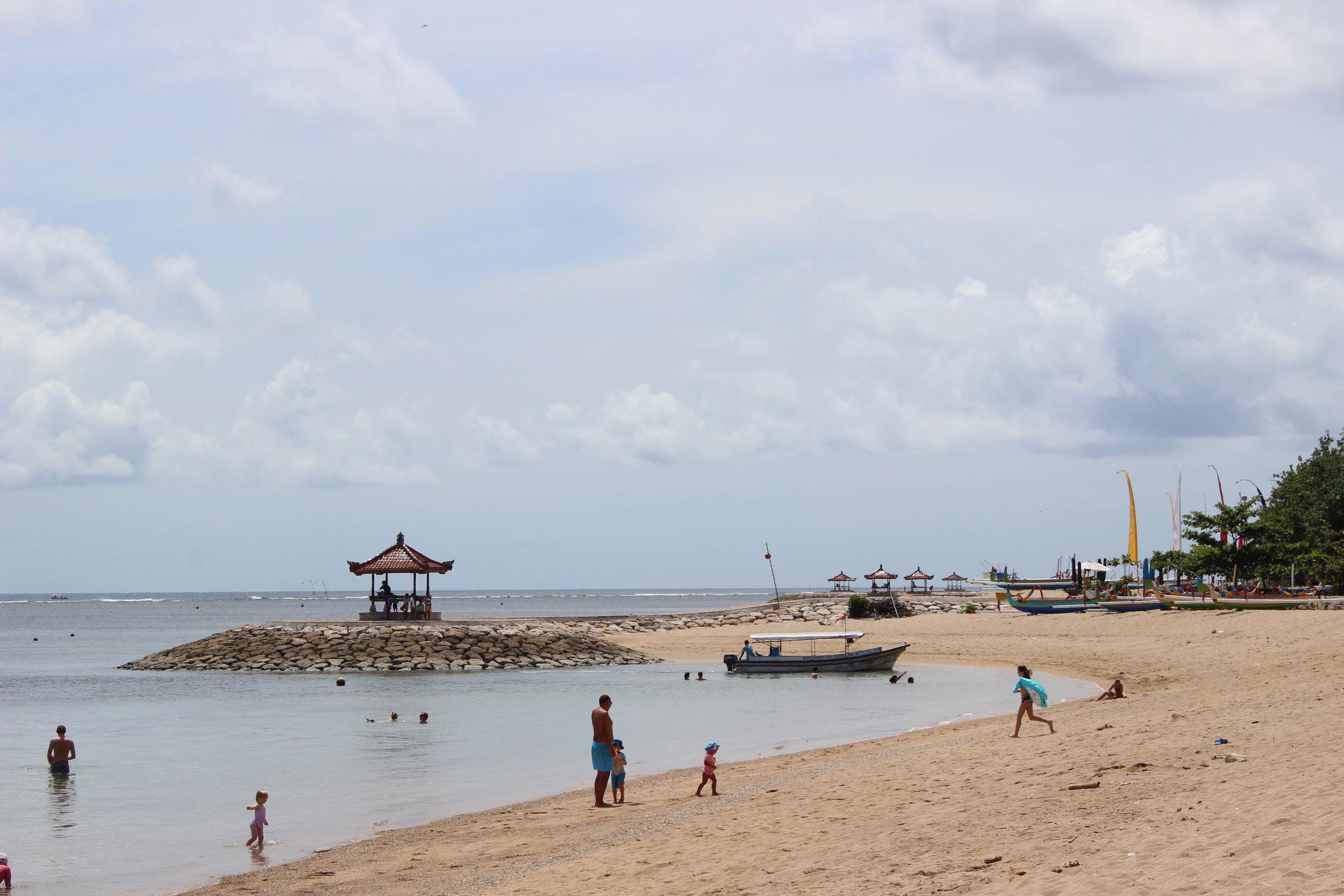 Sanur's beach front