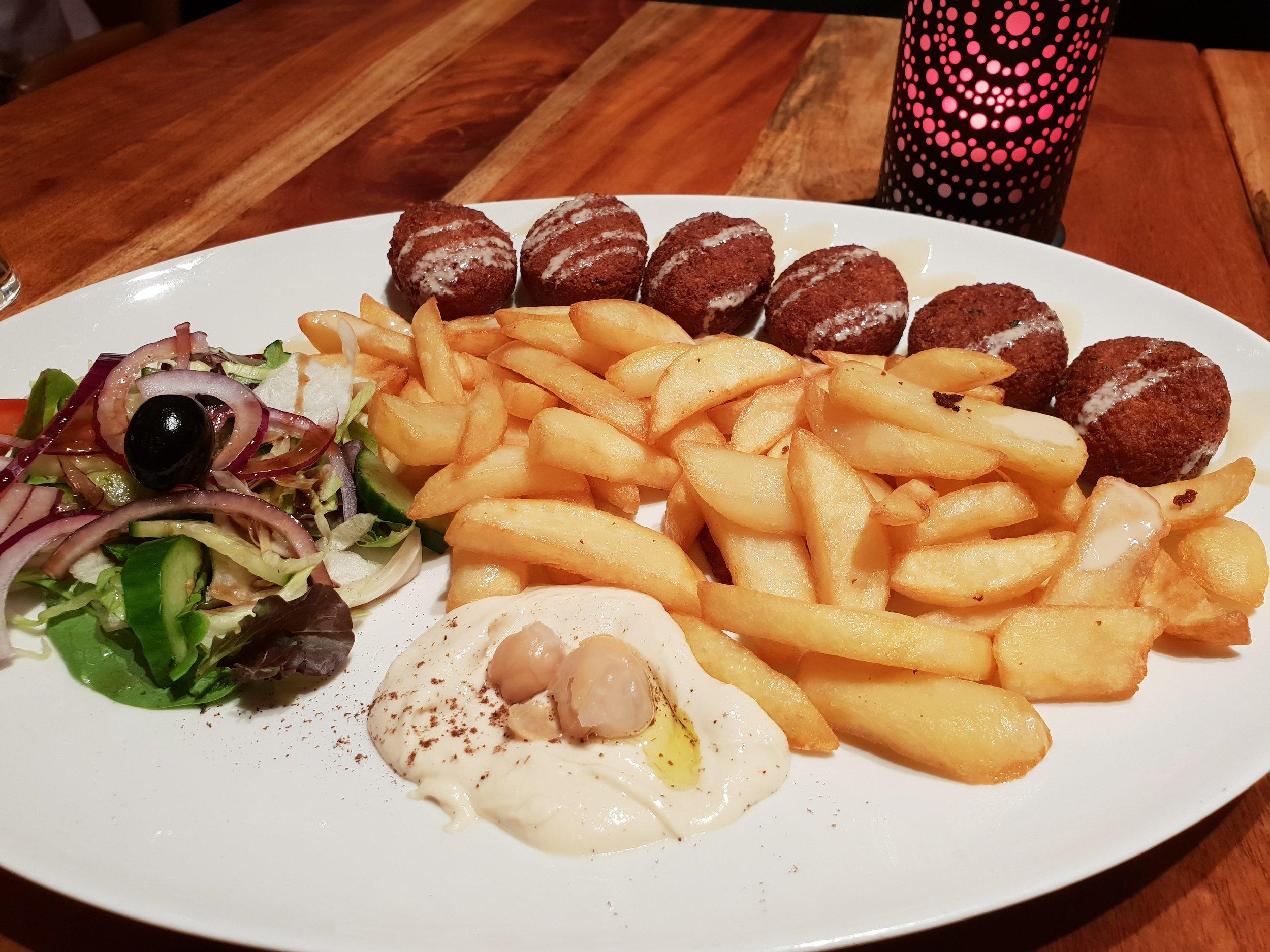 The Falafel platter