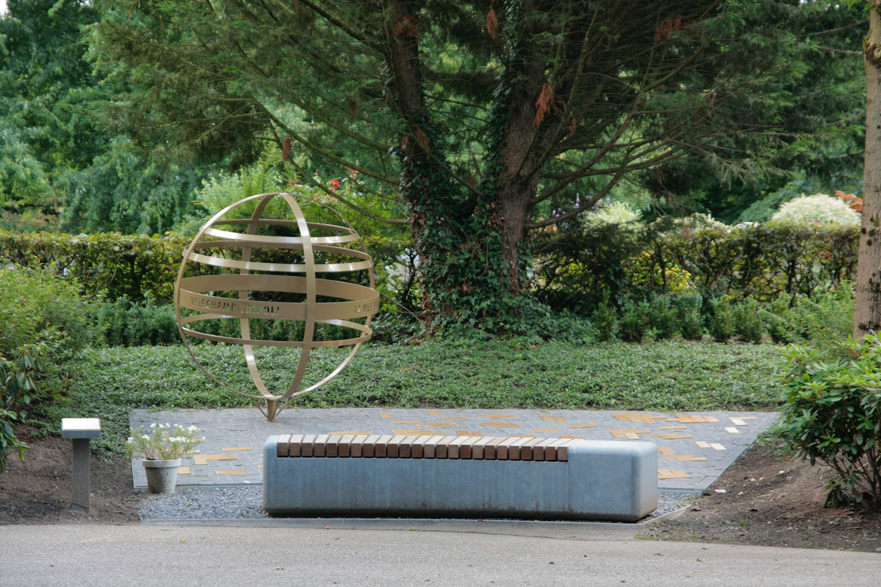 Het monument dat ik ontwierp voor Stichting Vliegramp Tripoli.