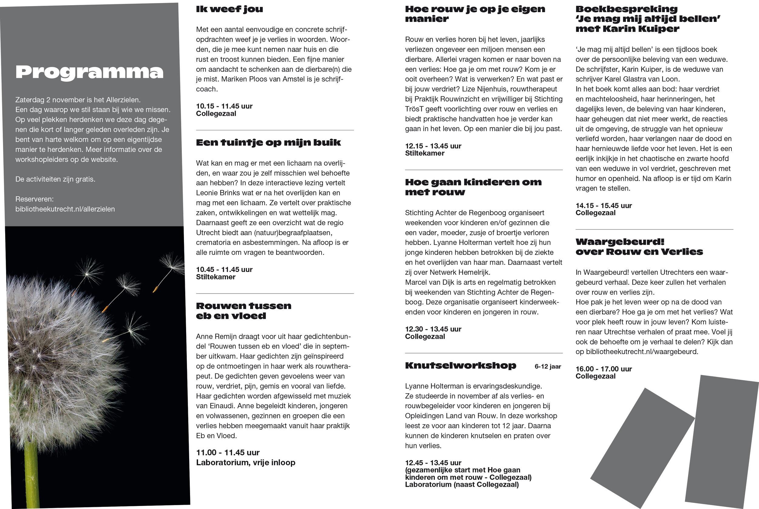 Allerzielen 2019 Centrale Bibliotheek Utrecht