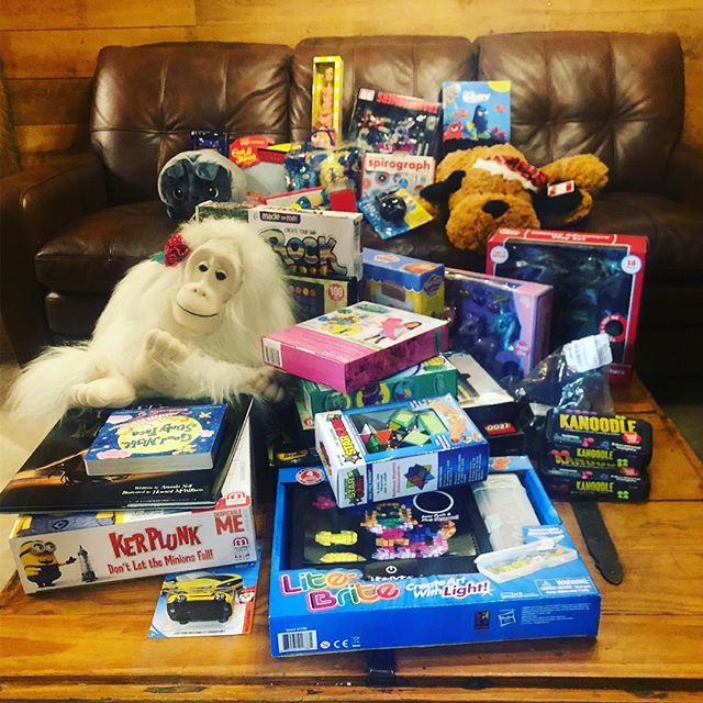 Toys headed to Mason's Toy Box (serving hospitalized kids and their families) and handmade cards headed to the Hospice of the Piedmont. We are so proud to be a part of this giving community. Thanks everyone for making our holiday party a success.