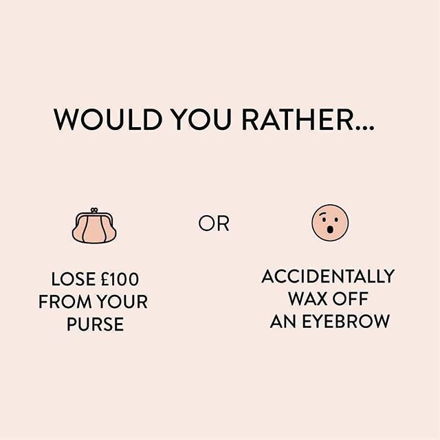 Decisions, decisions! What would you choose? #dilemma #eyebrows