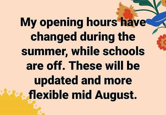 Summer holiday opening hours 2019: Mon - Fri 4.30-9pm Sat & Sun 9am-9pm.